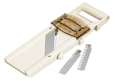 Kitchen Craft Japanese Mandoline With Safety Guard & 3 Slici