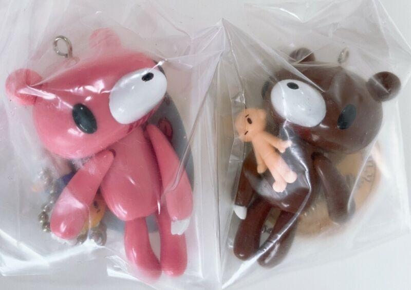 Rare gloomy bear keychain 2.5inch 6.5cm Brown pink Key ring Mascot Figure3