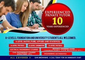 Experienced Maths, Further Maths, Mechanics, Physics, Chemistry, Foundation and University Tutor
