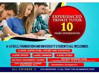 Experienced Maths, Further Maths, Mechanics Physics, Chemistry, Foundation and University Tutor