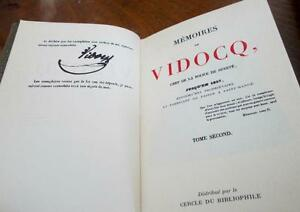 Two French Classic Books, Memoires de Vidocq, Vol 1 and II Kitchener / Waterloo Kitchener Area image 2