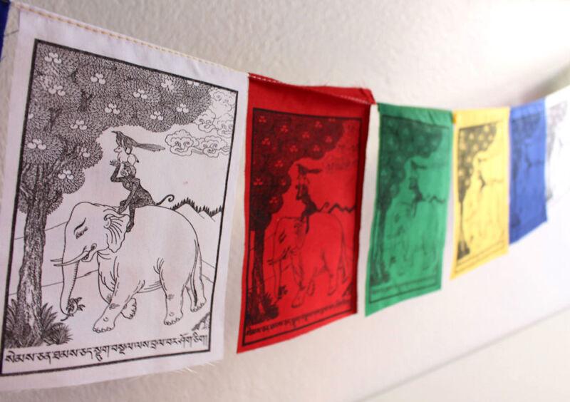 The Four Harmonious Animals Prayer Flag, Friendship Flags, Harmony Flags