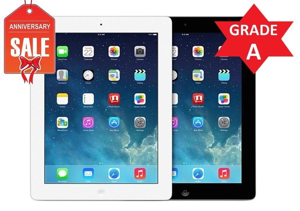 Apple iPad 4 WiFi + GSM Unlocked | Black or White | 16GB 32GB 64GB 128GB