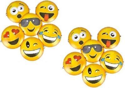 Halloween Emoji Masks (Emoji Plastic Masks 12 Pack EXPRESSIVE Halloween Birthday Mardi Gras Party)