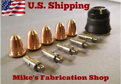 11pc Consumable Kit For Eastwood Versa Cut 20 Plasma Cutter - Trafimet S25 Torch