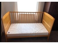 East coast cot bed with obaby foam mattress.