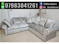 **25% off ** NEW CRUSH VELVET CHESTERFEILD GLP 3+2 seater sofa Luxury