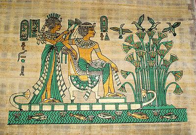 Ägypten Papyrus-Bild 30x40 - Pharao auf Nilfahrt