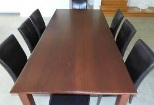 JARRAH DINING TABLE AND CHAIRS Riverton Canning Area Preview