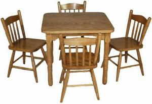 Mennonites made nature wood kids play stations tables -  two chairs and one table