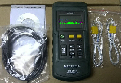 Digital Thermometer Dual-channel Input Thermocouple K J T E R S N Ms6514 Usb
