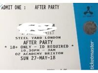 CREAMFIELDS STEEL YARD AFTER PARTY AT THE O2 ACADEMY BRIXTON ON THE 27TH MAY 10.30pm - 3am