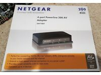 Netgear XAV1004-100UKS 4-port powerline adapter 200Mbps