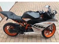 KTM RC390 sports motorbike.