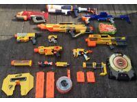 Nerf Gun Job Lot 9 GUNS, Magazines, Darts + Target