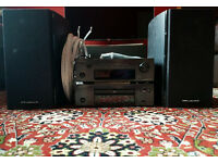 DENON DRA-F107DAB AM/FM STEREO DAB RECEIVER & DCD-F107 CD PLAYER & WHARFEDALE DIAMOND 10.1 SPEAKERS