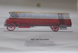 South Wales Transport 75th Anniversary Poster AEC 503 Saloon