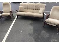 3 Seater Sofa and 2 Recliner Chairs