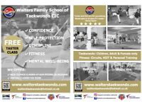 Taekwondo Classes for Adults & Children of all ages and ability levels.