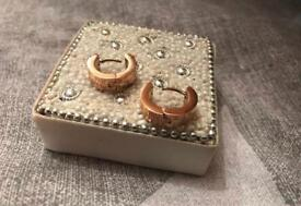 Gucci earrings- brand new gold plated