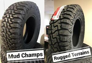 33 + 35`` on 17, 18, 20 and 22 E Load Range 10 ply TIRES!! Mud & Snow!! FREE INSTALL