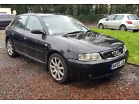 Audi A3 1.8 Turbo Sport (2003/03 Reg) + 5 DOOR + PANTHER BLACK + LEATHER + TURBO + HIGH SPEC +
