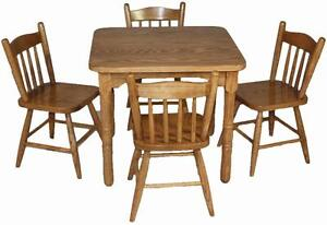 Amish handcrafted solid wood kids desk table set - FREE SHIPPING