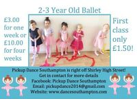 Baby Ballet Classes, Ages 2-3, Right on Shirley High Street, Southampton