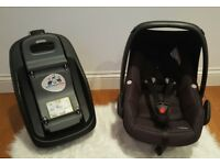 Maxi Cosi Pebble Car Seat with Maxi Cosi FamilyFix Base