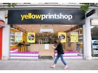 Print Shop Seeks New Sales Assistant £9.00 - £15.00 Per Hour