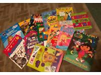 Colouring, stickers, reading, activity kids books £4 the lot