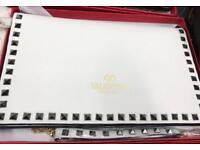 Valentino white leather clutch bag