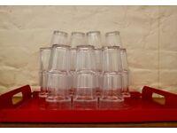 36x half pint glasses for sale!