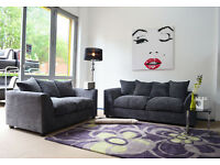 1 YEAR WARRANTY | DYLAN JUMBO GREY CORNER SOFA | UK EXPRESS DELIVERY | FOAM CUSSHION | SPRING BASE