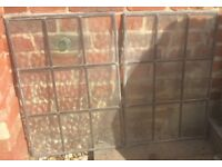 4 Lead Frame Bottle Glass Feature Window Panels 'Drew Pritchard' ! Salvage Pub Snug