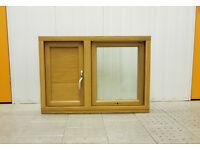 Scandinavian SOLID OAK TIMBER Flush Casement double glazed window (Sample) - Opens Out