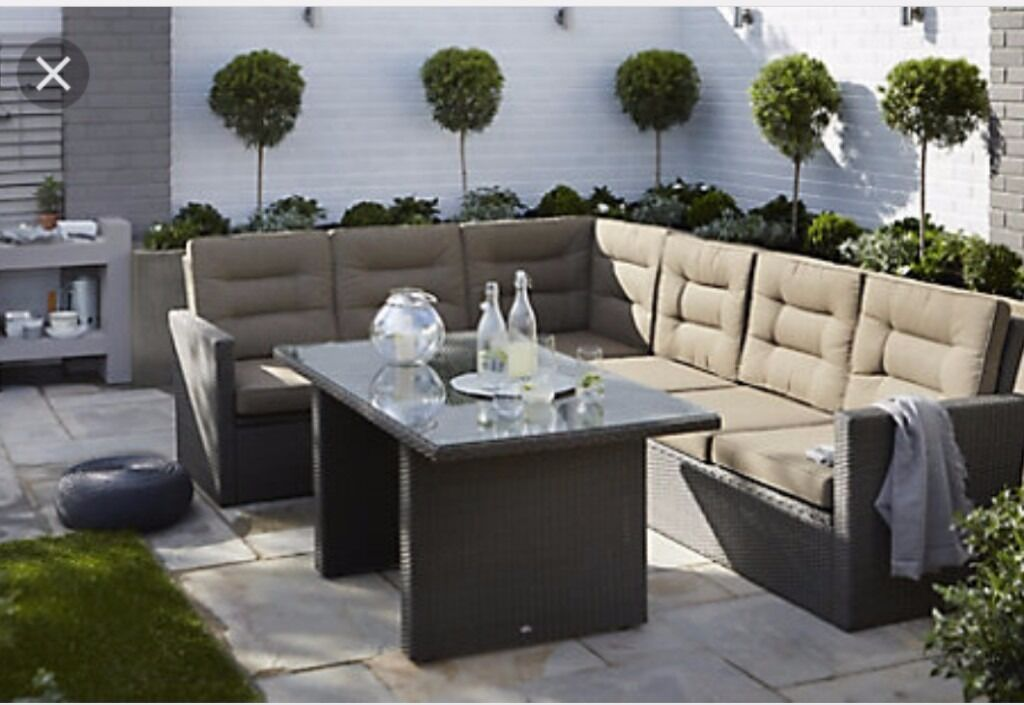 Brand New Rattan Garden Furniture From B Q Curly In For