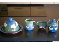 Wensleydale Pottery in blue and green