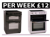 PAY WEEKLY ELECTRIC/GAS COOKER DOUBLE OVEN £12 PER WEEK SALE