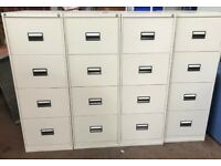 light grey filing cabinets, 4 drawer, great condition