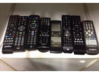 joblot of remote controls