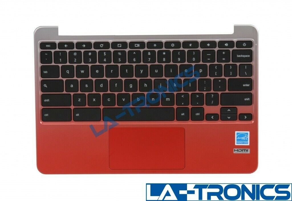 Genuine ASUS C201 C201P ChromeBook Palmrest Keyboard Touchpad Rose Gold/Red