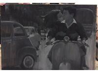 Bespoke grey scale paintings