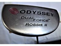 EXCELLENT VINTAGE ODYSSEY DUAL FORCE ROSSIE II PUTTER WITH NEW GRIP
