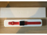 Apple Watch 42mm Space Grey Red Sport Band - Series 0
