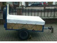 Refurbished car trailer with extras