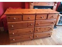 Large Solid Pine Drawers.