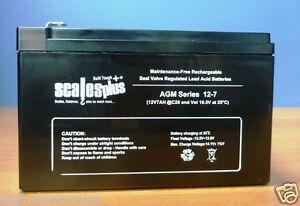 12V 7AH Battery Rechargeable Valve Regulated Sealed Lead Acid 20HR VRLA SLA