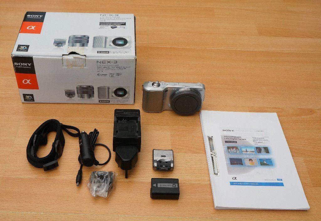 Sony Alpha NEX-3 Digital (Mirrorless) Camera, Body Only (NO Lens), Boxed, Full Working Order