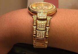 Versace diamond studded watch